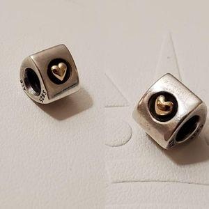 Pandora | Heart of Gold Charm 790305 - 2 CHARMS